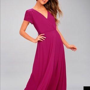 Lulu's Fusia maxi dress XL